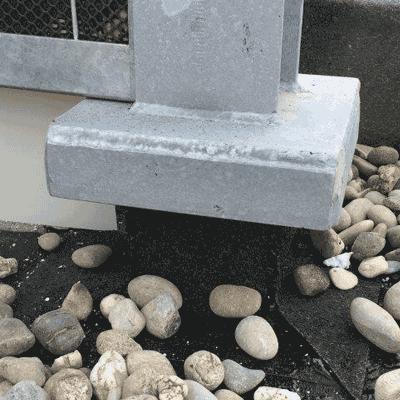 Op betonnen dakconstructie middels dak-isolatie